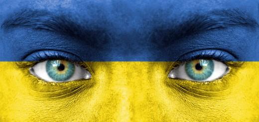 Set of various Ukraine flags